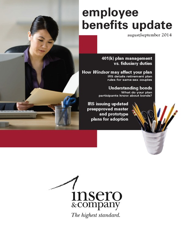 Employee Benefits Update August September 2014